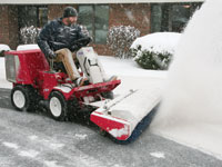 Power Broom snow removal