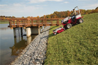 "<a href=""/press/?iid=2049"" class=""presslink"">Enlarge Picture/Press Link</a>Ventrac 4500Y with 72 inch mowing deck :: Ventrac 4500 allows for safer mowing around lakes, ponds, and various other water ways"