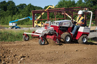 "<a href=""/press/?iid=1934"" class=""presslink"">Enlarge Picture/Press Link</a>Ventrac 4500Y diesel AWD tractor with Power Rake :: No more wasting time and energy manually raking, smoothing, clearing, and prepping ground for seeding. The 4500 with Power Rake does all that in a fraction of the time."