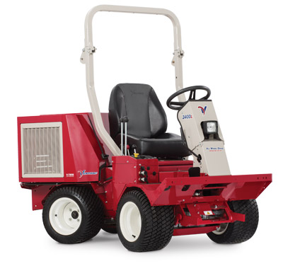 Ventrac 3400L all wheel drive compact articulating tractor - Shown with optional Turf Tires.
