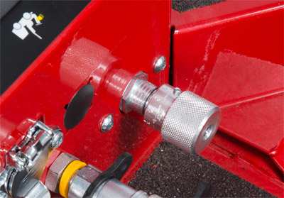 Hydraulics Lock Valve for Ventrac 3400 - The front hitch lock valve locks hydraulic cylinder that raises and lowers front hitch to prevent it from moving. Can help aid heavy front attachment from falling when placed in float