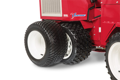 3400 Tire Options - All Terrain Tires (pictured on tractor) Standard<br>Turf Tires - Optional (#70.3052-99)