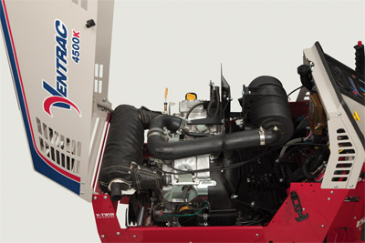 Ventrac 4500K Compact Utility Tractor Engine - The 4500K is powered by the 31 HP Briggs & Stratton Vanguard M54 engine