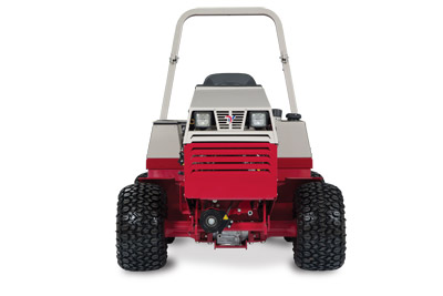 Ventrac 4500K KN Tractor - Front view of the 4500K shown with standard all-terrain tires