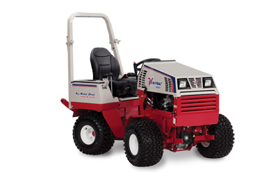 Ventrac 4500P All Wheel Drive Articulating Compact Utility Tractor - Side view of the 4500P shown here with optional suspension seat