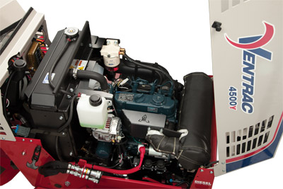 Ventrac 4500Y with Kubota diesel engine - The 4500Y comes with the Kubota 25 HP diesel engine
