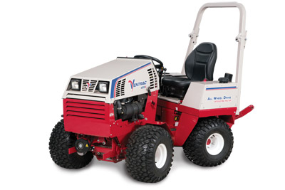 Ventrac 4500Z AWD articulating compact utility tractor left side - Shown with optional suspension seat