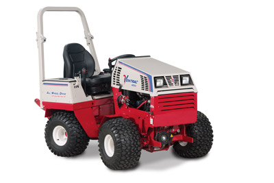 Ventrac 4500Z AWD articulating compact utility tractor right side - Shown with optional suspension seat
