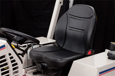 Suspension Seat for the Ventrac 4500 Closeup - Optional suspension seat for the Ventrac 4500