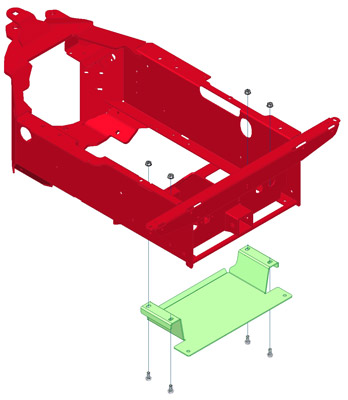 Rear Weight Bracket - Bracket Shown in Green