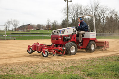Raised Renovator with working Groomer - Adding some finishing touches to infield.