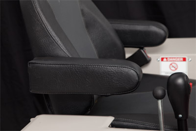 Optional Armrests for Ventrac 4500 side view - Kit to add armrests to the standard seat of the Ventrac 4500