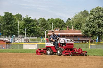 Ventrac Ballpark Renovator & Groomer Setup - With Ventrac one person can renovate and maintain a ball field.