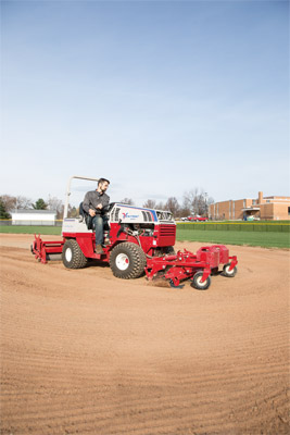 Ventrac Ballpark Groomer & Renovator - Infield maintenance made easy.