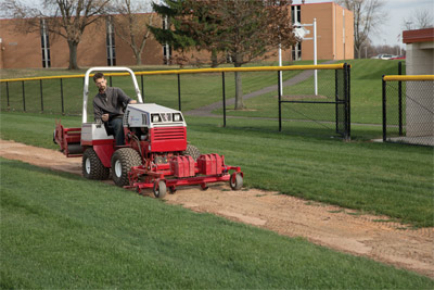 Ventrac 4500 with Renovator - From the backstop to the warning track Ventrac has ball field maintenance covered.