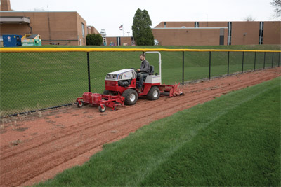 Ventrac Renovator & Groomer - The ballpark renovator starts by removing weeds helping you transform your playing fields in less time.