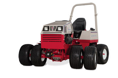 Ventrac 4500P with Dual Turf Tires - Shown with optional dual tire kit using turf tires and optional suspension seat.