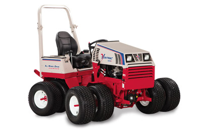 Ventrac 4500 All Wheel Drive Articulating Tractor - 4500P shown with optional features including suspension seat, turf tires, and dual wheels