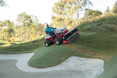 Slope capable Ventrac 4500 using the Aera-Vator