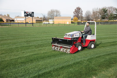 Aera-Vator for Ventrac 4500 - Ventrac helps you maintain healthy lawns easily with the Aera-Vator.