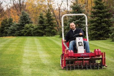 Ventrac 3400 Aerator - 54 inch width lets you aerate large lawns quickly