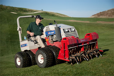 Core Aeration on a Golf Course - Ventrac 4000 series