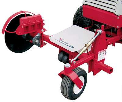 The Ventrac 20 inch Edger - Features a 20 inch steel blade with optional blower and up to three weights.