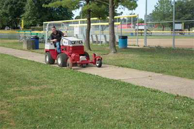 Ventrac 4500P with Edger - The Edger is one of over thirty attachments for the 4500 designed to save time and money while helping you do more.