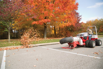 Ventrac 4500Y with Turbine Blower - Clear parking lots quickly with the Turbine Blower