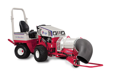 Ventrac 4500P with Turbine Blower - 4500P shown with ET200 Turbine Blower with 360 degree rotation