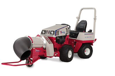 Ventrac 4500P with ET200 Blower - 4500P with Turbine Blower featuring a 12 inch opening with wind speeds of up to 175 miles per hour!