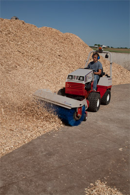 Ventrac 4500Y diesel with Power Broom - The 4500 with power broom works great with more than just snow removal