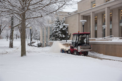 Ventrac 4500Z with Complete Winter Ready Setup - Clear snow, salt the walkways, and stay warm and dry all at once.