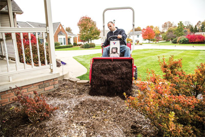Ventrac 3400 Power Bucket - Compact bucket helps move dirt, mulch, etc. into tighter places