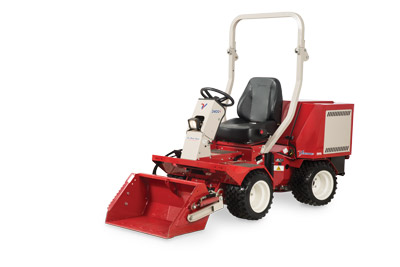 Ventrac 3400Y with Power Bucket - Ventrac 3400 shown with the smaller HE302 Power Bucket.