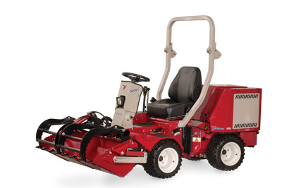 Ventrac 3400 with Power Bucket and Grapple closed - Shown with optional Grapple