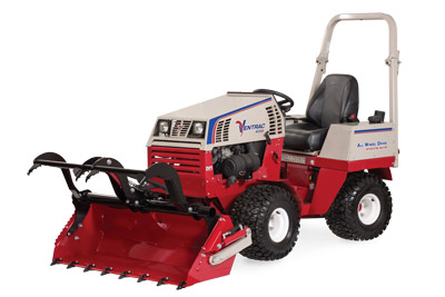 Ventrac 4500 with Power Bucket with Grapple Open - HE482 Power Bucket and optional Grapple