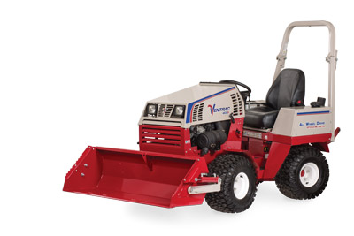 Ventrac 4500 with Power Bucket left side - HE482 Power Bucket