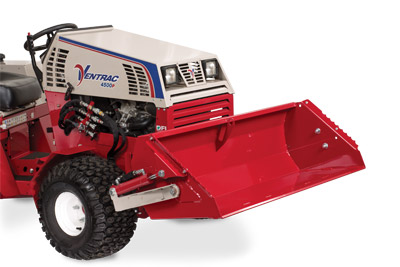 Ventrac 4500 with Power Bucket profile - Bucket lifted max height