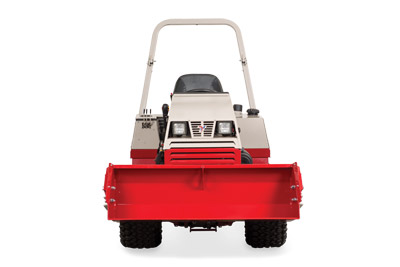 Ventrac 4500 with Power Bucket front view - Bucket lifted to max height