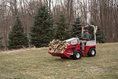 Ventrac 4500 with Power Bucket and optional Extension - Greatly increase your overall carrying capacity with the optional extension for the Power Bucket.