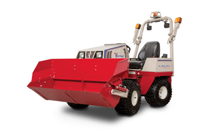 Ventrac 4500 with Power Bucket Profile - Shown with optional Extension for the Power Bucket.