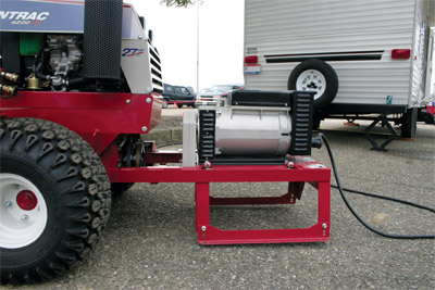 Power Generator for the Ventrac 4500 side view - Easily mounts with the Ventrac Mount System.