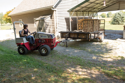 Trailer Mover on Ventrac 4500Z - It's simpler to move a trailer when everything is in front of you and you don't have to be turned around the entire time.