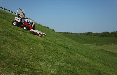 Ventrac 4000 series - Shown with HM722 Mowing Deck