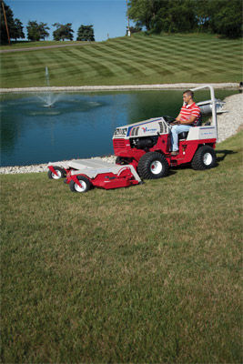 Ventrac 4500Z AWD with 72 inch mowing deck - Golf course quality results are easier with the 4500 and the 72 inch complete mower deck.