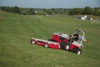 Ventrac 4500 with Dual Wheels and Mowing Deck