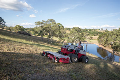 Ventrac 4500 Uphill Mowing with HM722 - The comfort and ease of use makes the Ventrac 4500 feel safer on slopes giving you confidence to get the job done right.