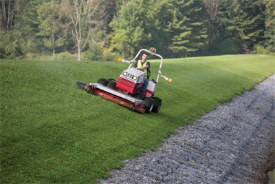 Slope Mowing with a Ventrac 4500 and Complete Mowing Deck - Slope mowing capable Ventrac 4500 with the HM722 mowing deck.