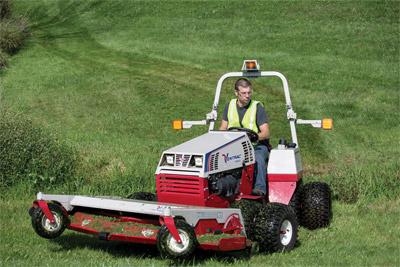 AWD Ventrac 4500 with 72 inch mowing deck - The all-wheel drive Ventrac 4500 can maneuver through wet, marshy, rough, and uneven terrain.